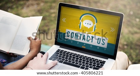 Contact Us Call Service Customer Care Concept - stock photo