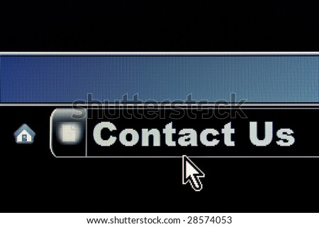 Contact Us concept for an internet webpage - stock photo