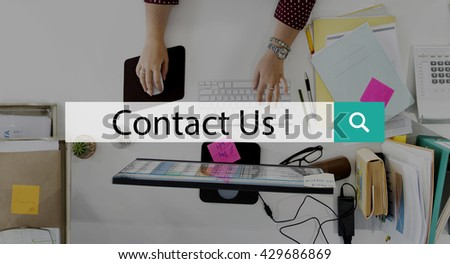 Contact Us Correspondence Customer Support Concept