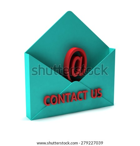 Contact us email.  - stock photo