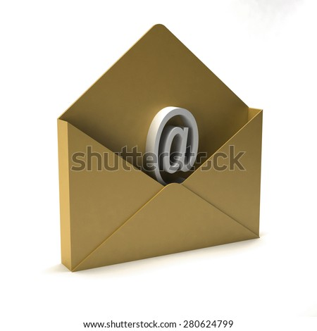 Contact us email - stock photo