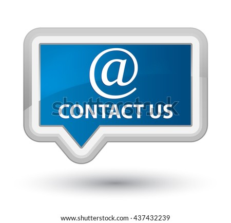 Contact us (email address icon) blue banner button