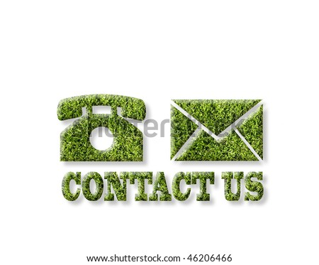 contact us in green - stock photo