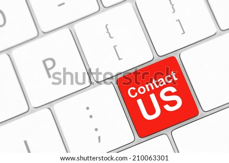 Contact us keyboard button - stock photo