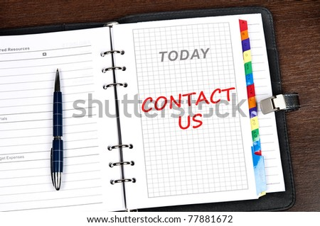 Contact us message on today page - stock photo