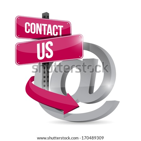 contact us online symbol illustration design over a black background - stock photo