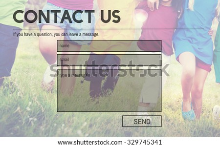 Contact Us Service Support Information Feedback Concept - stock photo