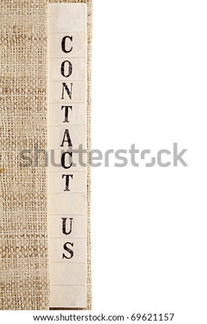 Contact Us Text - stock photo