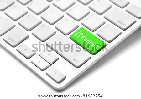 contact us word on computer keyboard key showing business commun - stock photo