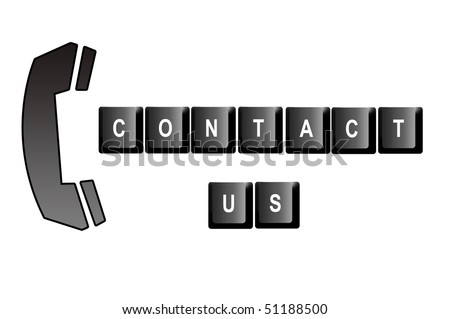 Contact Us Written Computer Keyboard Letters Stock Illustration
