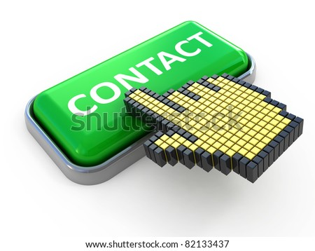 Contact web button. Computer icon isolated on white