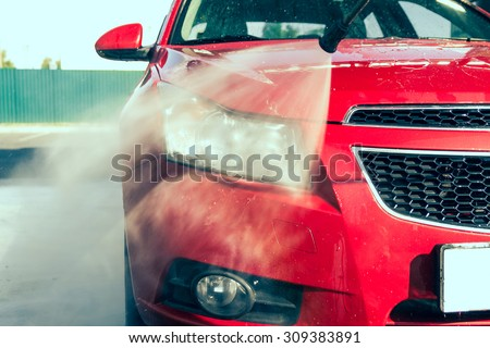 Contactless car wash - stock photo