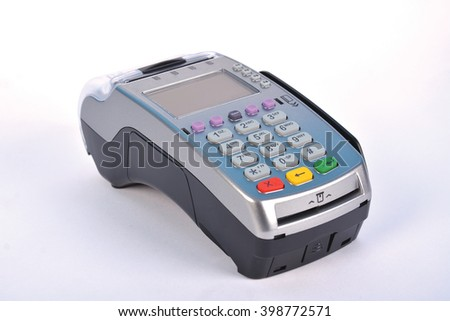 Contactless POS Payment GPRS Terminal, isolated on white