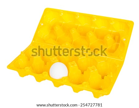 Container for eggs - stock photo