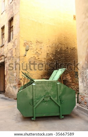 container for rubbish - stock photo