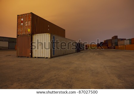 Container harbour Hamburg Germany - stock photo