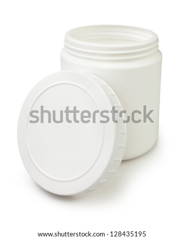 container open white on white background - stock photo