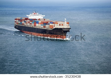 Container Ship 5 - stock photo