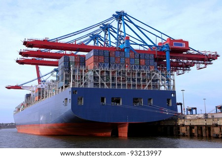 container ship and container terminal