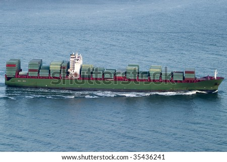 Container Ship Green