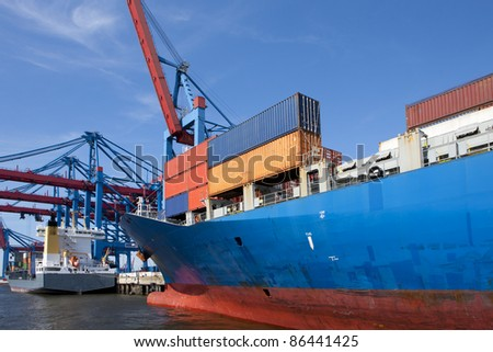 container shipment - stock photo