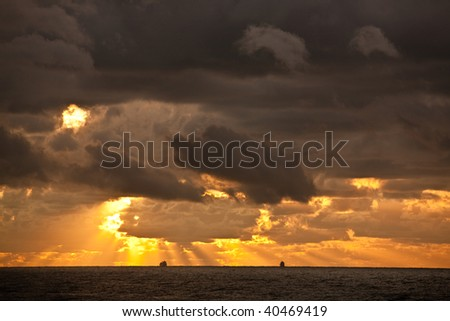 Container Ships at Horizon - stock photo