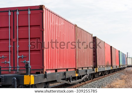 container trains - stock photo