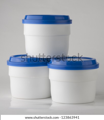 container used as model for packaging graphic design