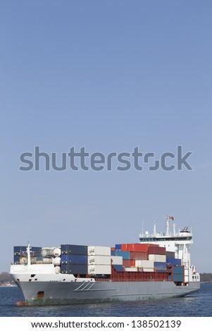 Container vessel - stock photo