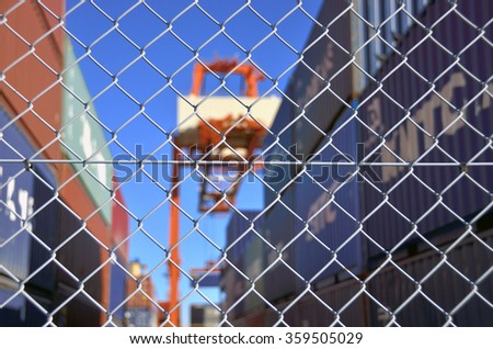 container yard security fence