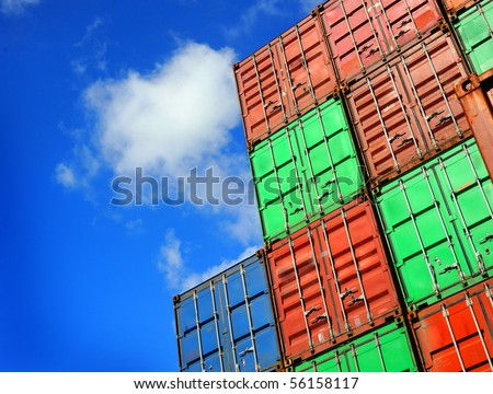 Containers - stock photo