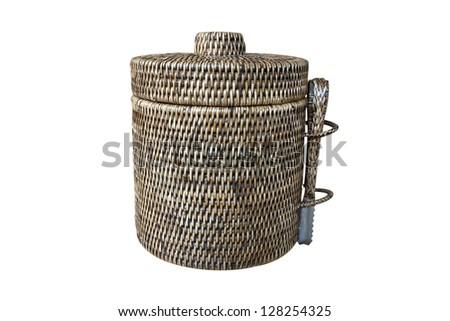 Containers made �¢??�¢??of rattan woven into shapes.