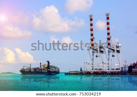 containers ship Shipping terminal and shipyard, business transportation