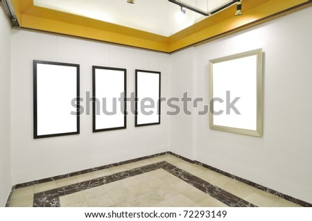 Containing only completely blank canvases. - stock photo
