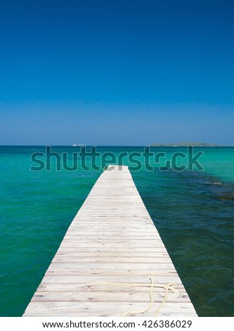 Contemplating the Sea Jetty to Eternity  - stock photo