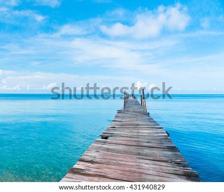 Contemplating the Sea Sunny Serenity  - stock photo