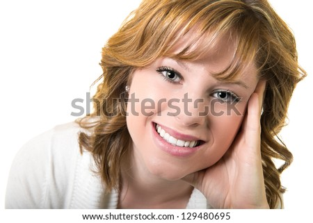 Contemplative young woman - stock photo