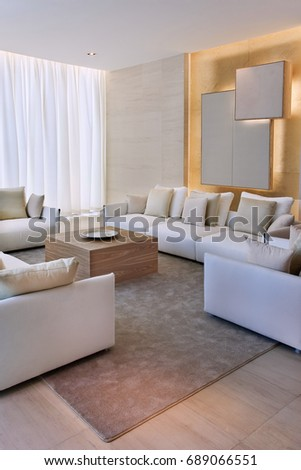 Contemporary apartment with comfortable and tasteful furnishing.
