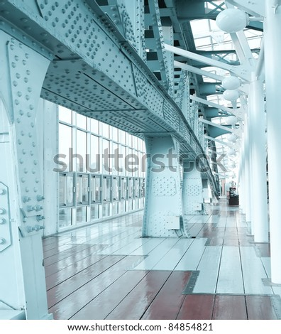 office blue. Contemporary Blue Business Corridor In Office Center