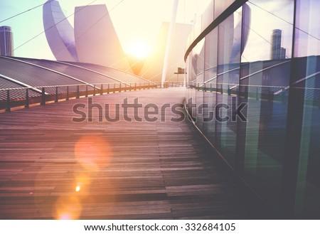 Contemporary Building Exterior Skyscraper Design Concept - stock photo