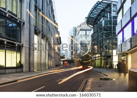 Contemporary Buildings in city of London