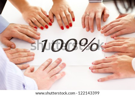 Contemporary business people working in team in the office. - stock photo