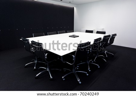 contemporary Conference room - stock photo