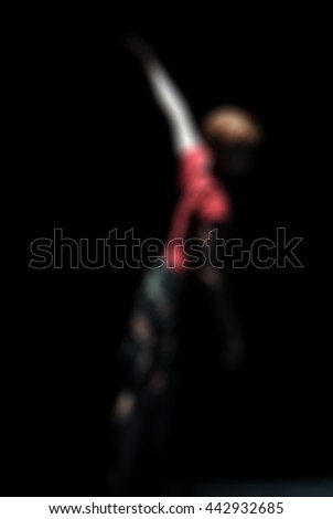 Contemporary dance performance abstract blur background with shallow depth of field - stock photo