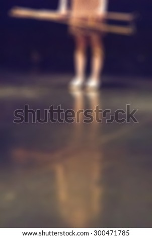 Contemporary dance performance blur background with shallow depth of field bokeh effect - stock photo