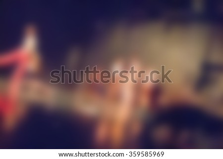Contemporary dance performance bokeh blur background - stock photo