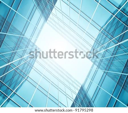 contemporary framework underside view - stock photo