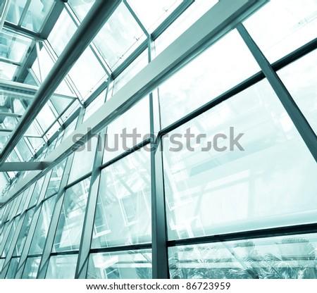 contemporary glass architecture - stock photo