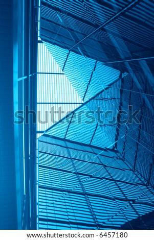 Contemporary hi-tech building detail - stock photo