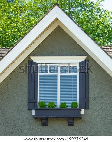 Contemporary house window. - stock photo